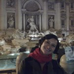 Ana-Felicia Scutelnicu at the Trevi Fountain