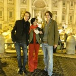 Ana-Felicia Scutelnicu, Jonas & Jakob Weydemann at the Trevi Fountain