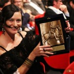 Ana-Felicia Scutelnicu with the CinemaXXI Award for Panihida