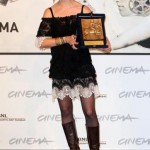 Ana-Felicia Scutelnicu with the CinemaXXI Award for Panihida.